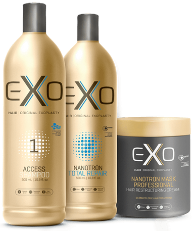 EXO Brazilian Keratin Treatment Exo Hair Professional Exoplasty - Reconstruction Nanotron Total Repair Kit