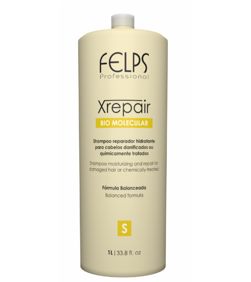 Felps Brazilian Hair Treatment Professional XRepair Bio Molecular Shampoo 1L - Felps