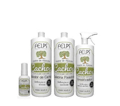 Felps Brazilian Keratin Treatment Avocado Oil Curls Activator Kit 4 Products - Felps