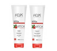 Felps Brazilian Keratin Treatment Guarana Detox Extract Hair Kit 2x250ml