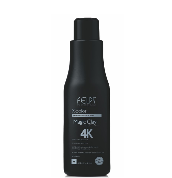Felps Brazilian Keratin Treatment Magic Clay 4K Xcolor 500ml - Felps