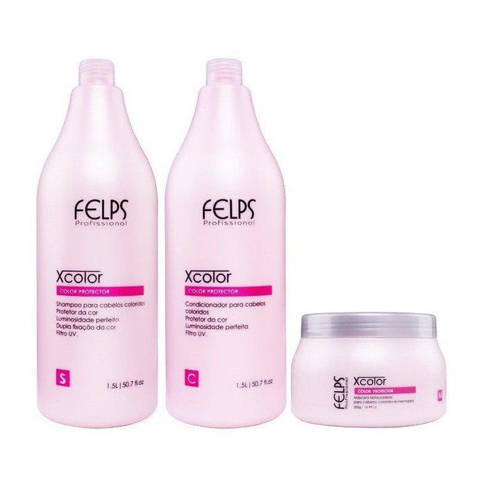 Felps Brazilian Keratin Treatment XColor Protection Hair Kit 3x1 - Felps