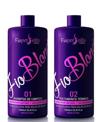FioPerfeitto Brazilian Keratin Treatment Progressive Brush Perfect Wire FioBlond 2x1000ml - FioPerfeitto