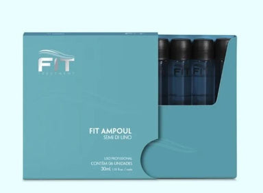 Fit Cosmetics Brazilian Keratin Treatment Professional Hair Treatment Semi di Lino Ampoul Keratin 6x30ml - Fit Cosmetics