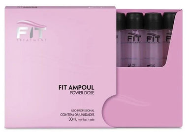 Fit Cosmetics Brazilian Keratin Treatment Professional Intensive Treatment Power Dose Ampoul Kit 6x30ml - Fit Cosmetics