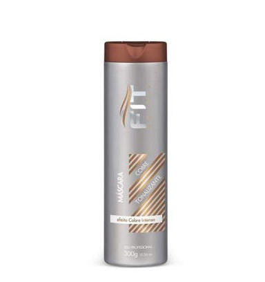 Fit Cosmetics Hair Mask Professional Intense Shine Copper Effect Tint Toning Mask 300g - Fit Cosmetics