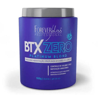 Forever Liss Brazilian Keratin Treatment Btx Zero Platinum Blond Tinting Anti Yellow Treatment Mask 950g - Forever Liss