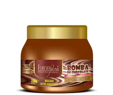 Forever Liss Hair Mask Brazilian Chocolate Bomb Ultra Hydration Professional Mask 250g - Forever Liss
