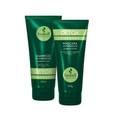 Haskell Brazilian Keratin Treatment Anti Residues Detox Therapy Mint Ginger Purifying Treatment Kit 2x200 - Haskell