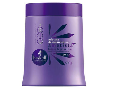 Haskell Hair Mask Blond Gray Hair Smoothness Silky Touch Treatment Amethyst Mask 500g - Haskell
