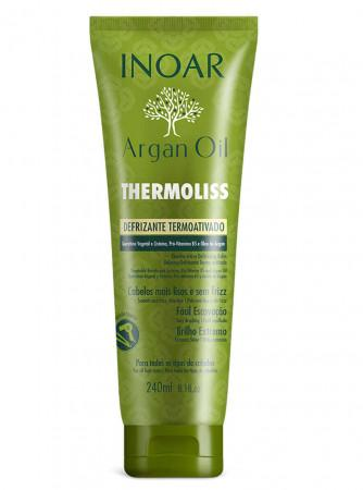 Inoar Argan Oil Thermoliss Defrizante Termoativado 240ml - Inoar
