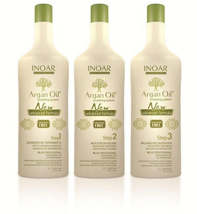 Inoar Brazilian Keratin Treatment Argan Oil System Progressive Brush Kit 3x1L - Inoar