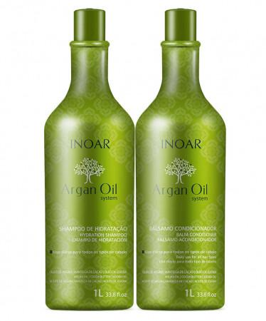 Inoar Kit Argan Oil Shampoo + Conditioner 1 Liter 1 Liter - Inoar