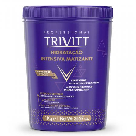 Blondes Trivitt Moisturizing Violet Tinting Mask 1Kg - Itallian Hair Tech