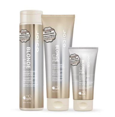 Joico Brazilian Keratin Treatment Blonde Life Illuminating Hydration Moisturizing Treatment Kit 3 Products - Joico