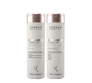 Korban Home Care Hair Bioplasty  Nutrition Restoration Strenghtening Treatment Kit 2x250 - Korban