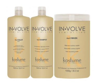 Kostume Brazilian Keratin Treatment In Volve Semi di Lino Home Care Nutrition Repair Treatment 3 Products - Kostume