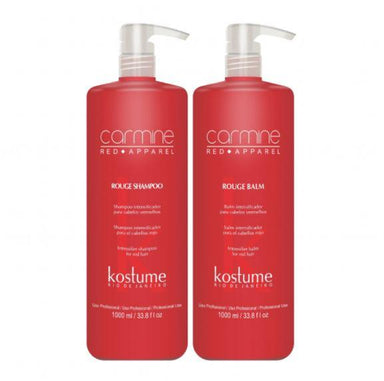Kostume Brazilian Keratin Treatment Professional Rouge Carmine Red Apparel Hair Color Intensifier Kit 2x1L - Kostume