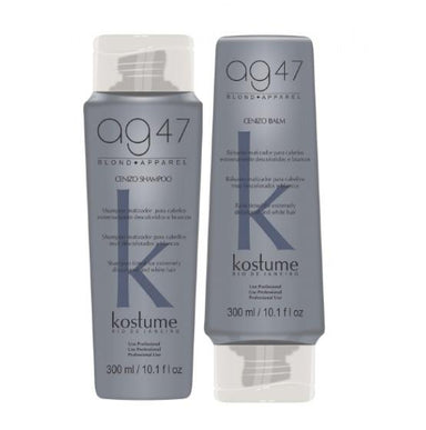 Kostume Home Care AG47 Cenizo Platinum Effect White Bleached Hair Tinting Kit 2 Prod. - Kostume