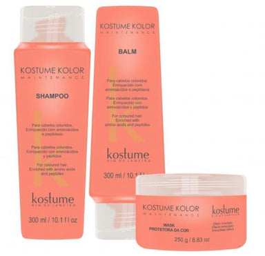 Kostume Home Care Colored Treatment Kolor Color Booster Intensifier Maintenance 3 Prod. - Kostume