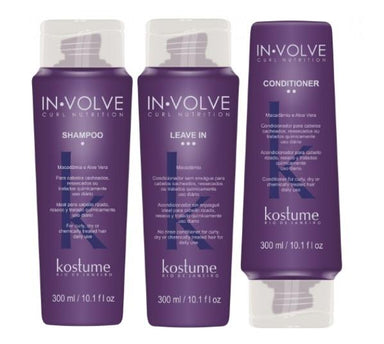 Kostume Home Care Curly Wavy Maintenance Treatment In Volve Curl Nutrition Kit 3x300 - Kostume