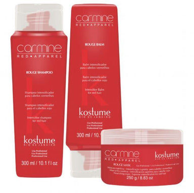 Kostume Home Care Rouge Carmine Red Apparel Red Hair Color Intensifier Treatment 3 Prod. - Kostume