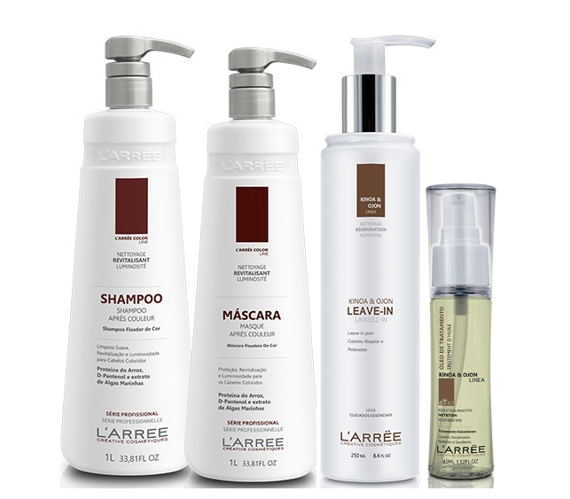 L'ARRËE Brazilian Keratin Treatment Professional Treatment After Color Kinoa & Ojon Hair Kit 4 Products - L'ARRËE