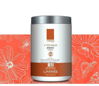 L'ARRËE Brazilian Keratin Treatment Professional X-Keratin Vegan V-tox Cocoa Calamo Oil Masque Balm 1Kg - L'arree