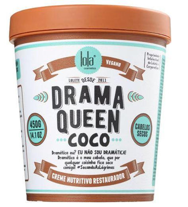 Lola Cosmetics Hair Mask Drama Queen Vegan Coconut Nutrition Reconstruction Mask 450g - Lola Cosmetics