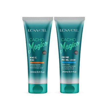 Lowell Brazilian Keratin Treatment Professional Magic Curls Shampoo and Modeling Shaper Cream 2x240ml - Lowell