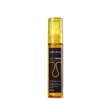 Lowell Brazilian Keratin Treatment Professional Reconstruction Multibenefits Argan Intro Hair Oil 60ml - Lowell