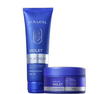 Lowell Brazilian Keratin Treatment Professional Violet Platinum Blond Hair Tinting Treatment Kit 2x240ml - Lowell
