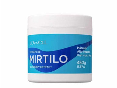 Lowell Hair Mask Professional Mirtilo Blueberry Extract High Impact Treatment Mask 450g - Lowell