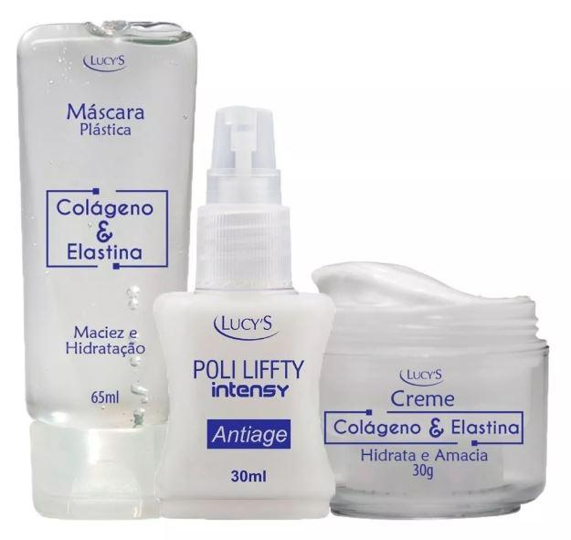 Brazilian Original Antiage Facial Care Kit Collagen Elastina 3 Products - Lucy's