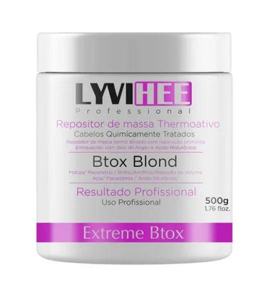 Lyvihee Brazilian Keratin Treatment Extreme Anti Frizz Thermoactive Volume Reduction Btox Blond 500g - Lyvihee