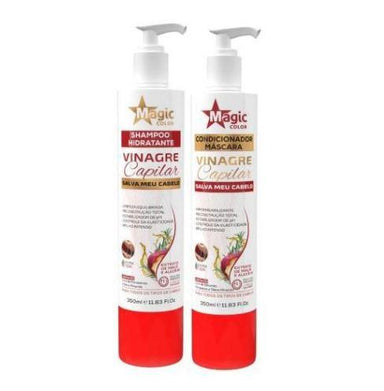Magic Color Brazilian Keratin Treatment Web Effect Capillary Apple Vinegar Shampoo and Conditioner 2x350ml - Magic Liss