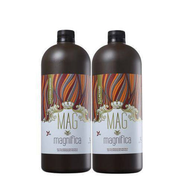 MAGMAGNIFICA Brazilian Keratin Treatment Biopolimerization Protein Hair Treatment 2x1Lt Kit - MAG Magnifica