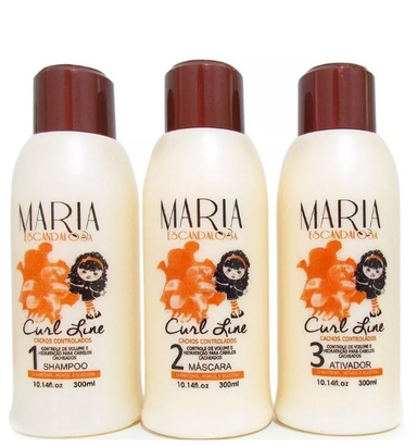Maria Escandalosa Brazilian Hair Treatment Curl Line Kit Conntrolled Bunches 3x300ml - Maria Escandalosa