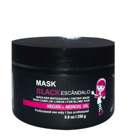 Black Tinting Scandalous Argan Monoi Oil Blondes Mask 250g - Maria Escandalosa