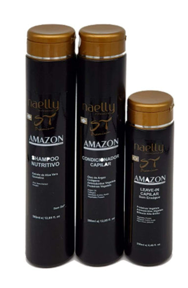 Naelly Brazilian Keratin Treatment Amazon Premium Home Care ST 3 produtcs - Naelly