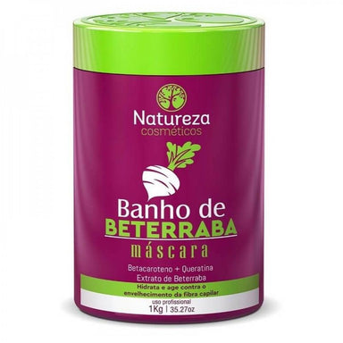 Natureza Cosmetics Hair Mask Beetroot Bath Betacarotene Keratin Treatment Hair Mask 1Kg - Natureza Cosmetics