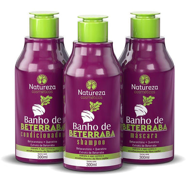 Natureza Cosmetics Home Care Beetroot Home Care Beet Bath Maintenance Kit 3x300ml - Natureza Cosmetics
