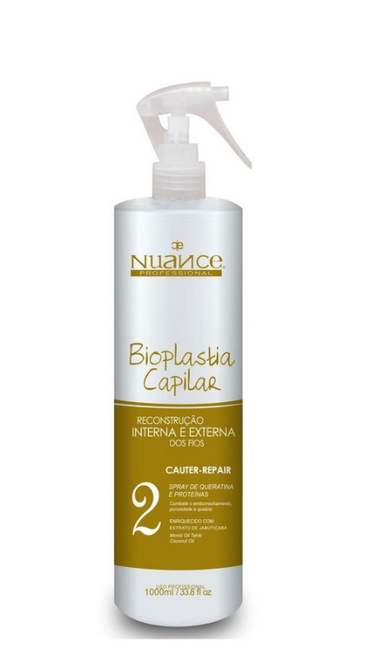 Nuance Brazilian Keratin Treatment Internal and External Reconstruction Capillary Bioplasty Step 2 1L - Nuance