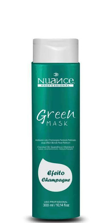 Nuance Green Toning Champagne Hair Tinting Mask 300ml - Nuance