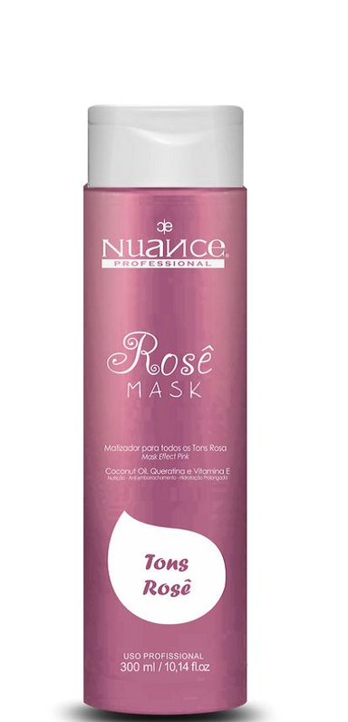 Nuance Hair Mask Brazilian Capillary Treatment Rose Hair Mask Shades Pearl Effect 300ml - Nuance