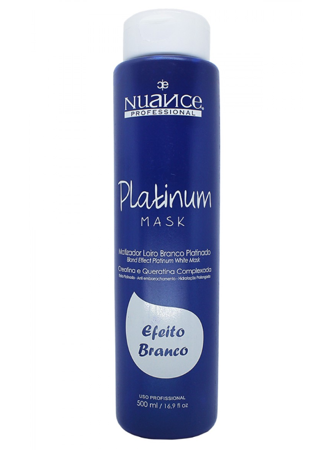 Nuance Hair Mask Brazilian Treatment Blond Effect Platinum White Hair Mask Toning 500ml - Nuance