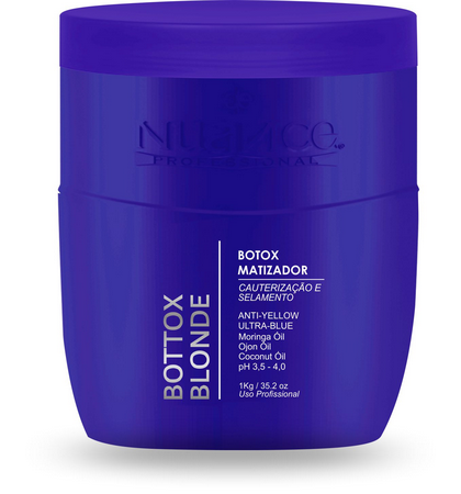 Nuance Hair Mask Brazilian Treatment Matizator Toning Botox Ultra Blue Hair Mask 1Kg - Nuance