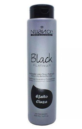 Nuance Hair Mask Matizator Toning Black Platinum Hair Mask 500ml - Nuance