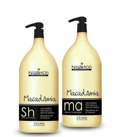 Nuance Macadamia Kit Shampoo and Conditioner Daily Treatment 2x2500ml - Nuance