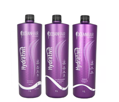 Ocean Hair Brazilian Keratin Treatment Nutrition Hair Treatment Kit Hydrativit 3x1L - Ocean Hair